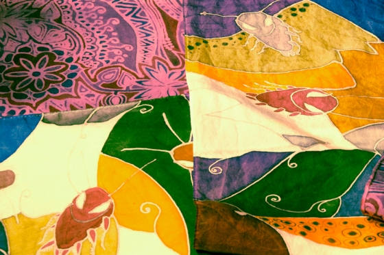 hand-painted silk scarf by Gigi Mederos of Guatopo Design