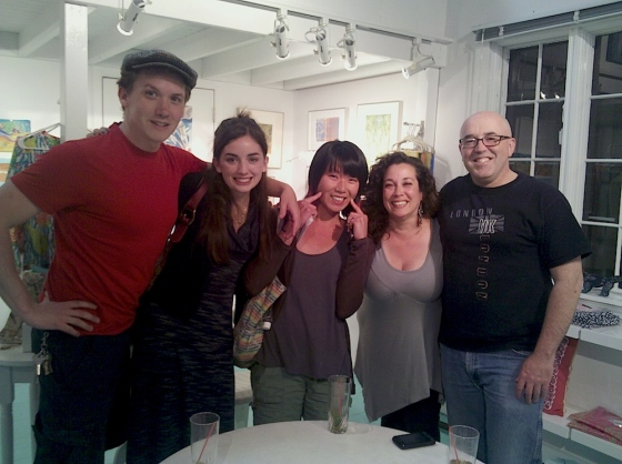 group photo of visitors to Aquatro Gallery on June 16th, 2012