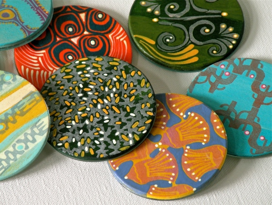 group photo of Guatopo Design's newest fashion accessory - compact mirrors